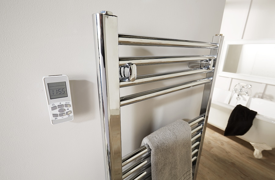 Electric Heated Towel Rail With Thermostat